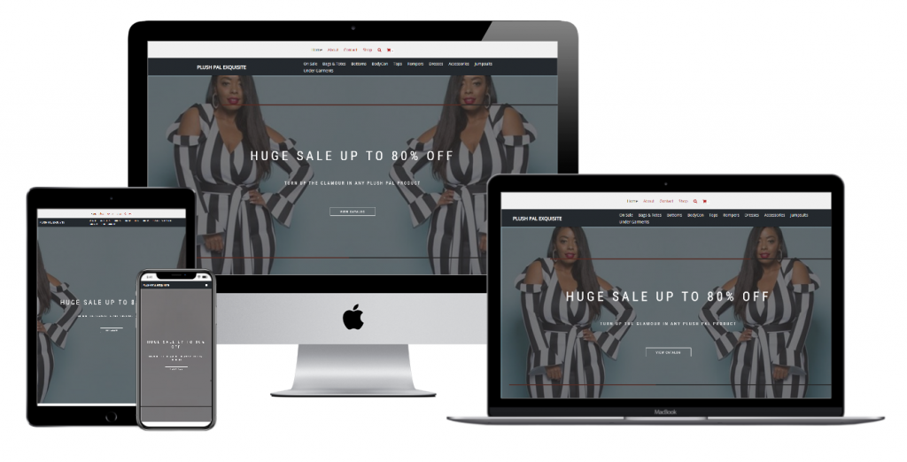 Plus Size Boutique Website Design